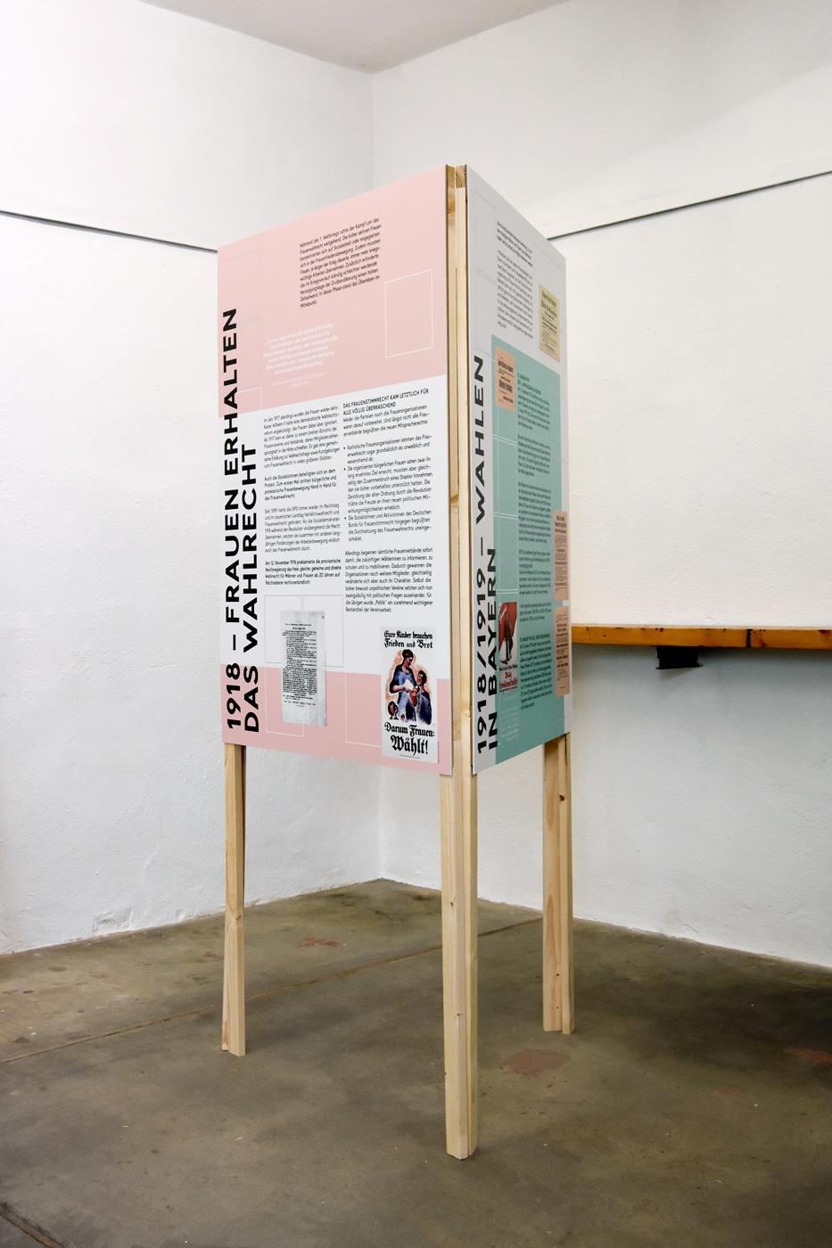 Ausstellungsdesign 100 Jahre Frauenwahlrecht