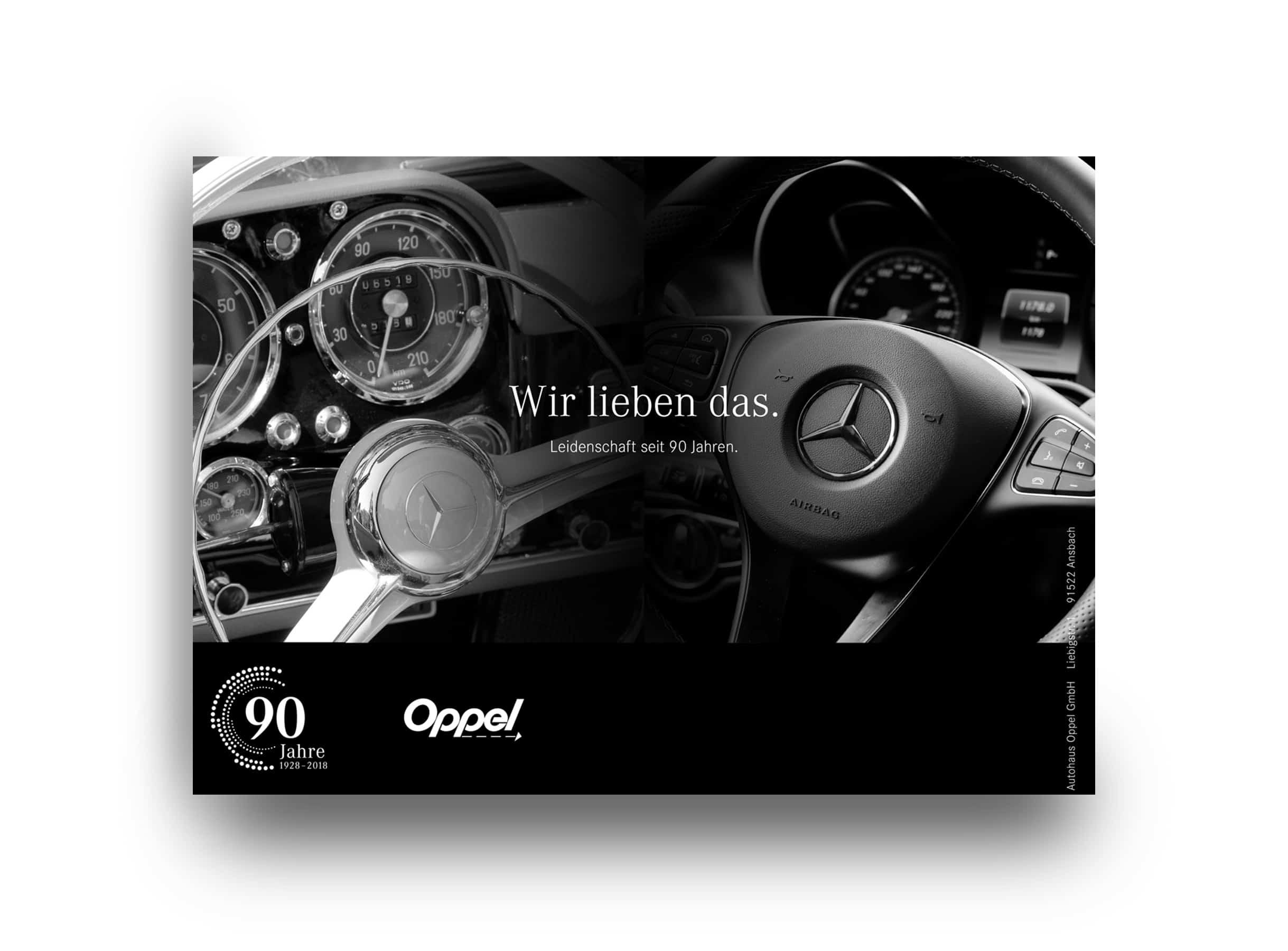Designkonzept Anzeige Mercedes Vertragshändler