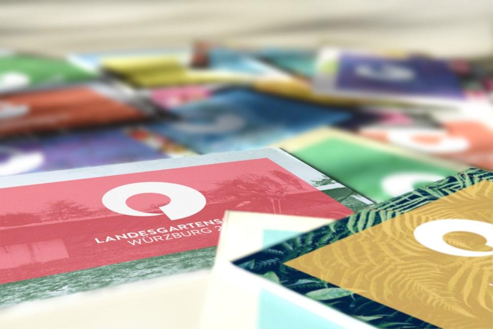 Visitenkarten Design Landesgartenschau Würzburg