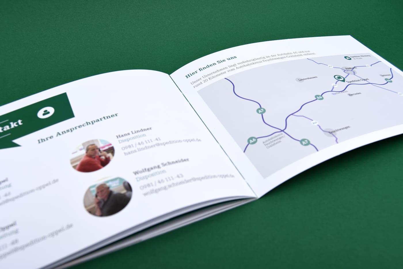 Doppelseite Design Imagebroschüre