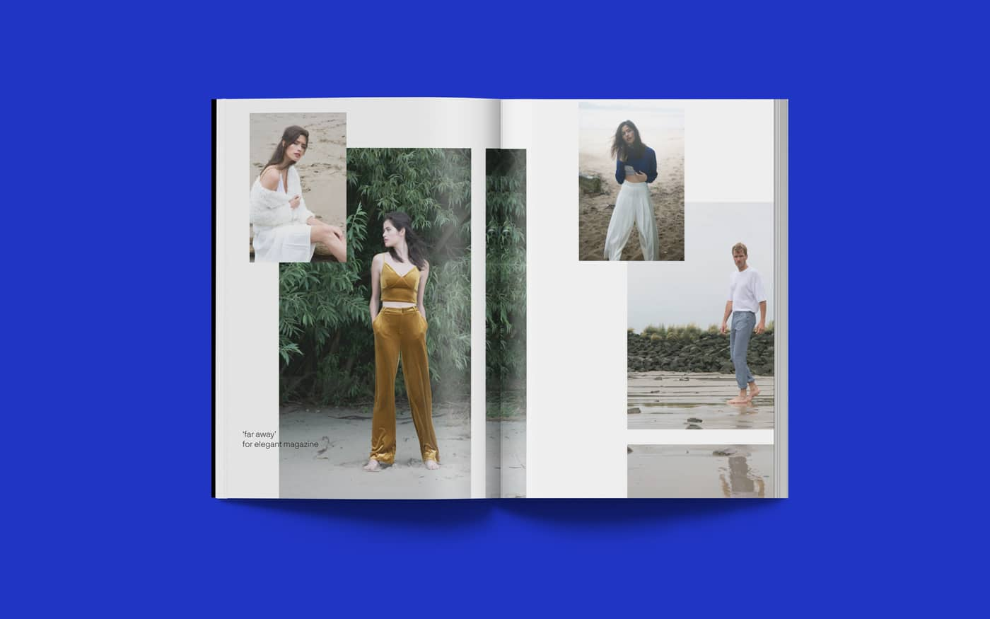 Doppelseite Editorial Design LVTR – Magzine for young photography