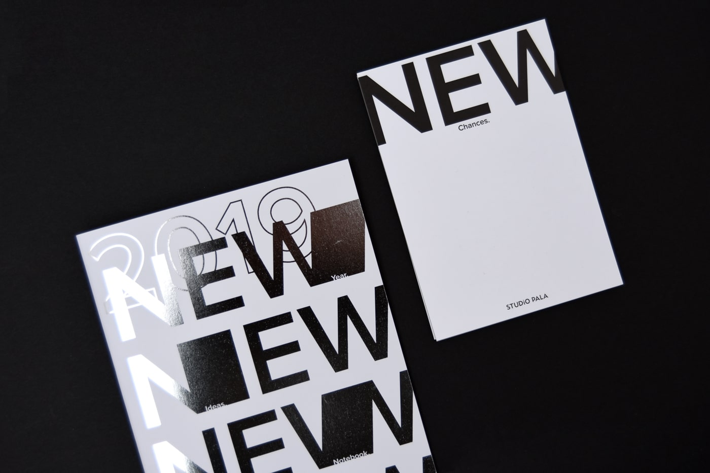Notizbuch und Karte Design Studio Pala Weihnachten 2018