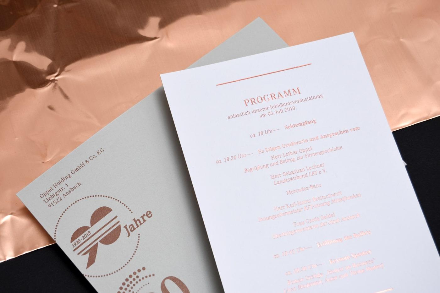Design Einladungskarte und Kuvert