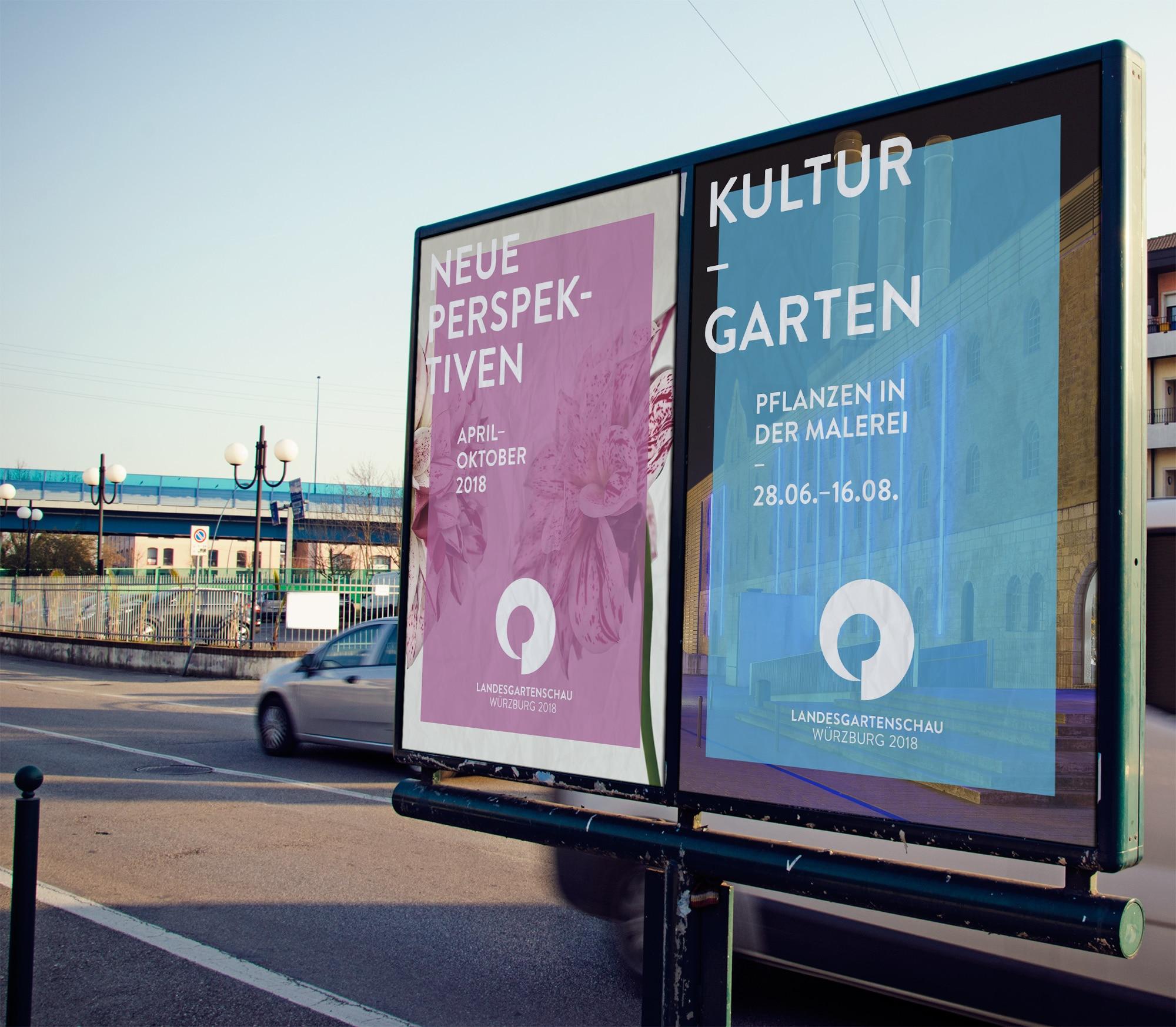 Plakatierung Landesgartenschau Würzburg