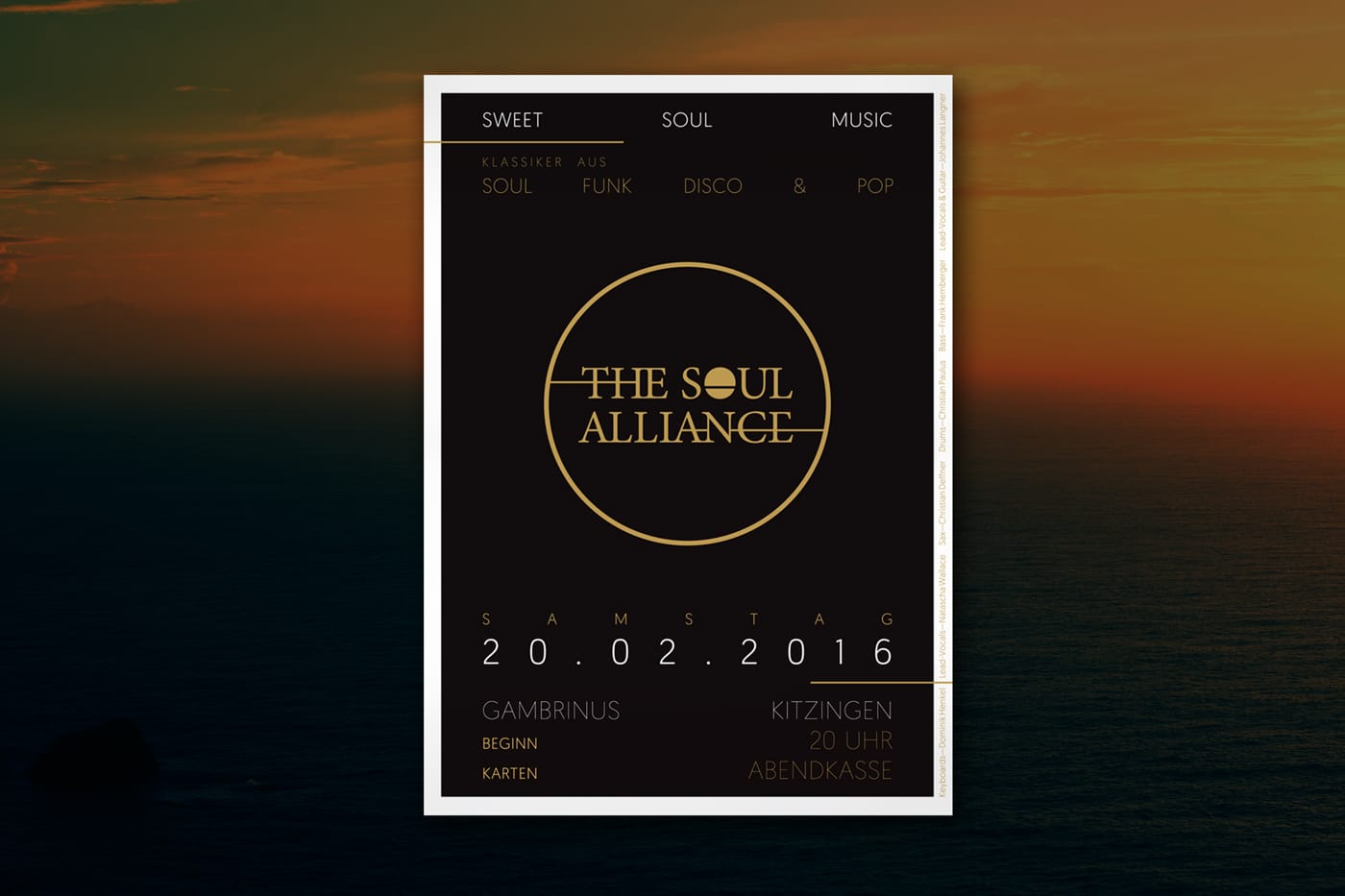 Konzertplakat The Soul Alliance Band