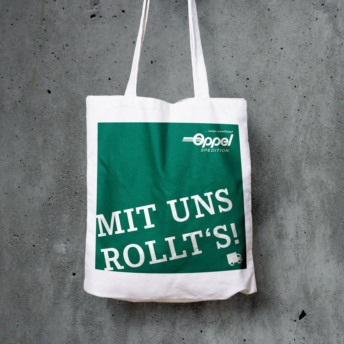 Gestaltung Spedition Oppel Tasche