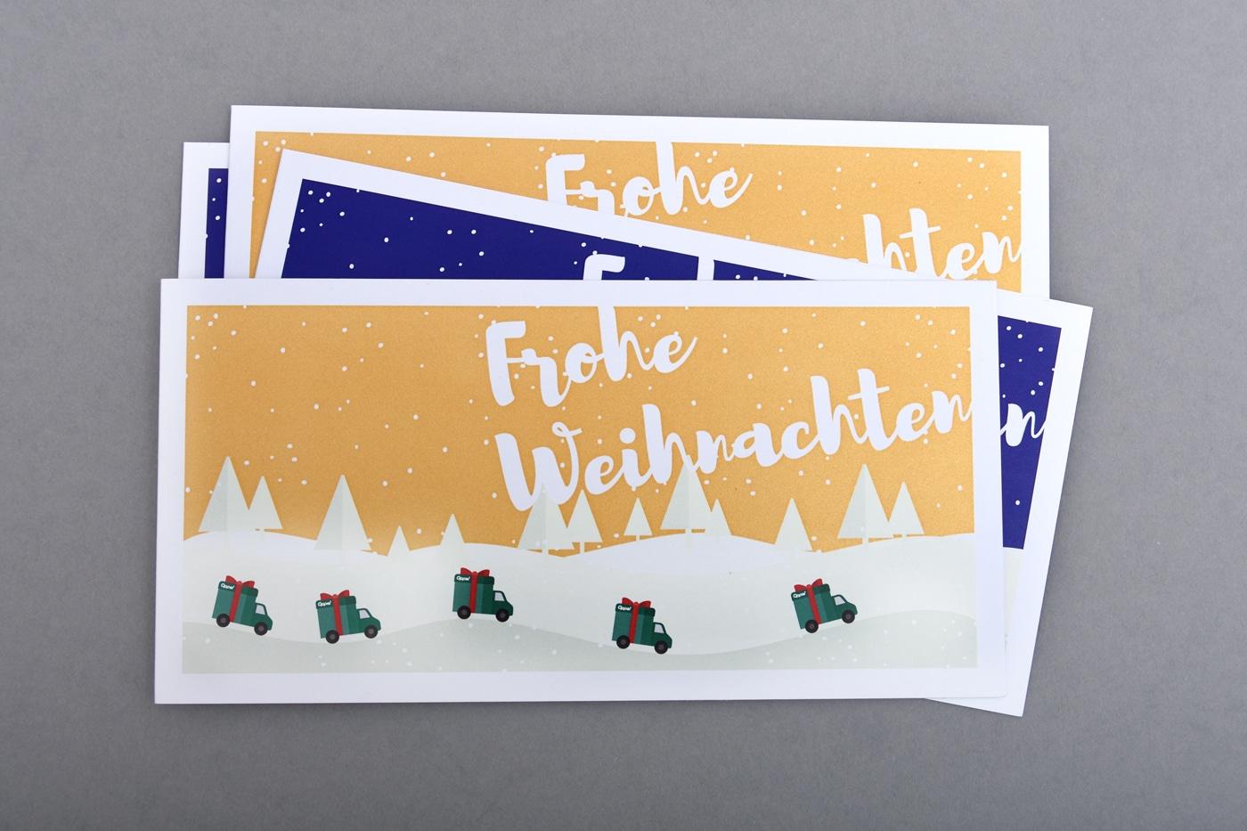 Gestaltung Spedition Oppel Weihnachtskarten