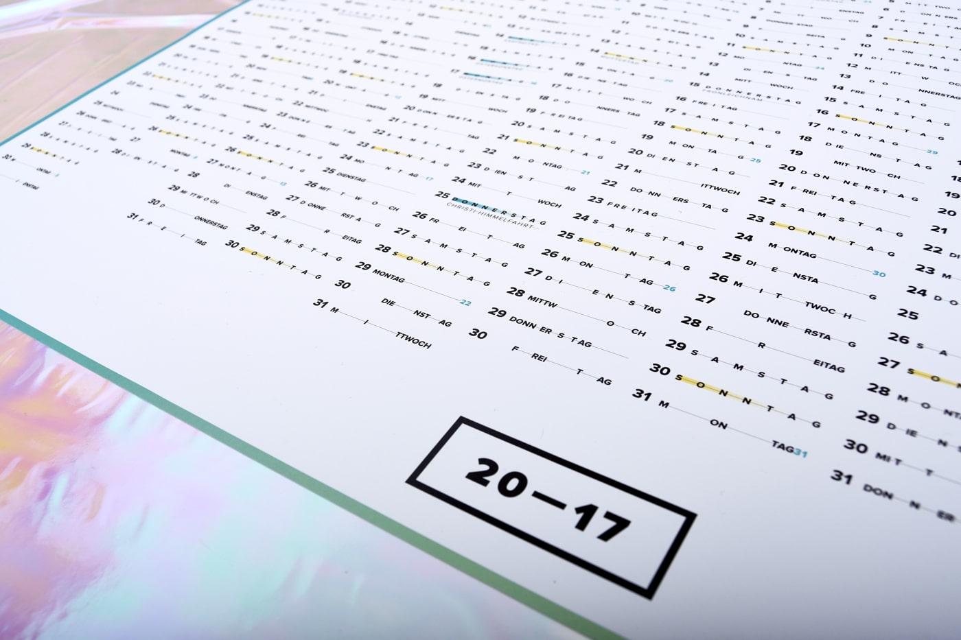 Design Wandkalender Studio Pala 2016