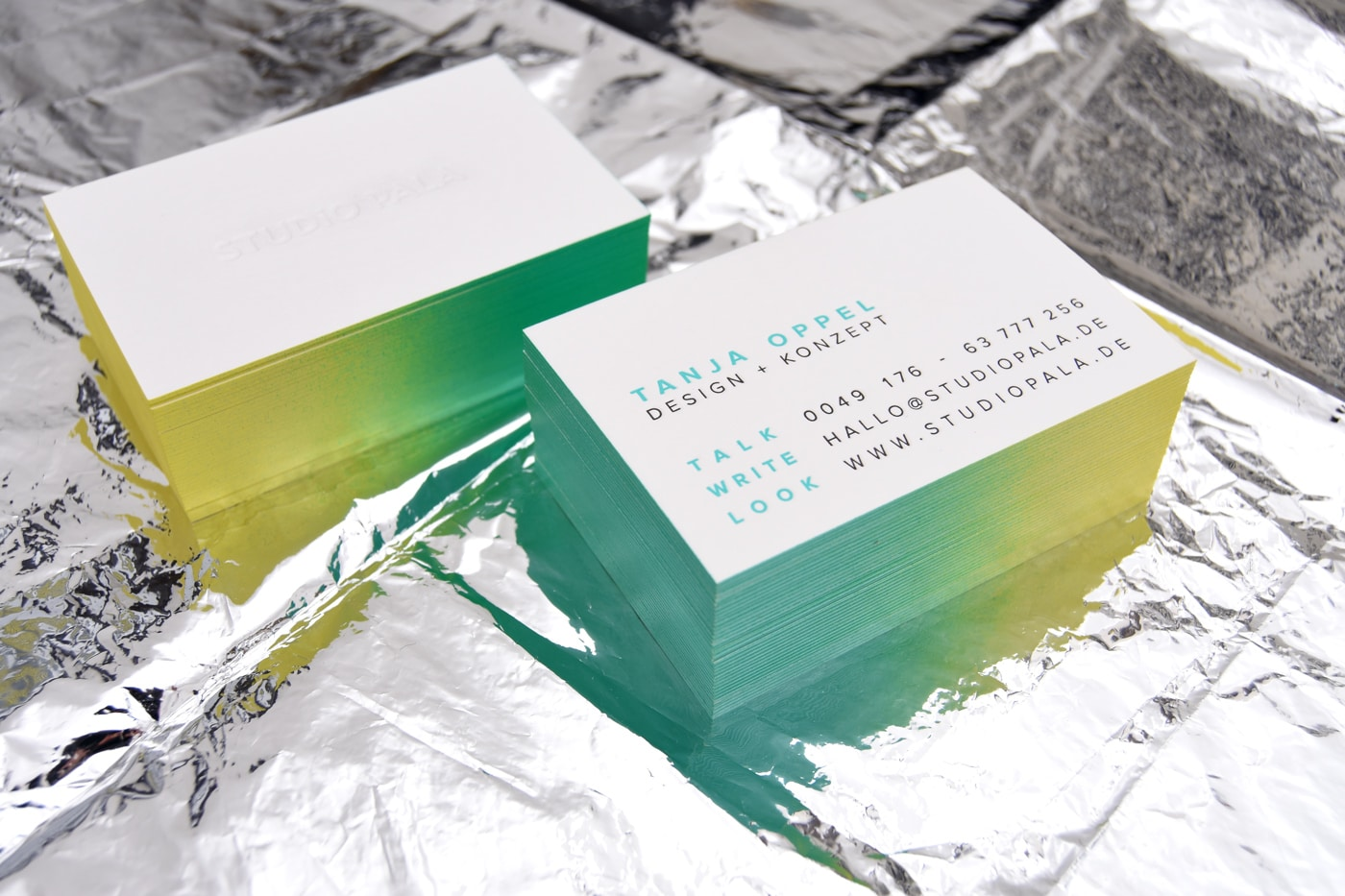 Letterpress Visitenkarten Design Studio Pala