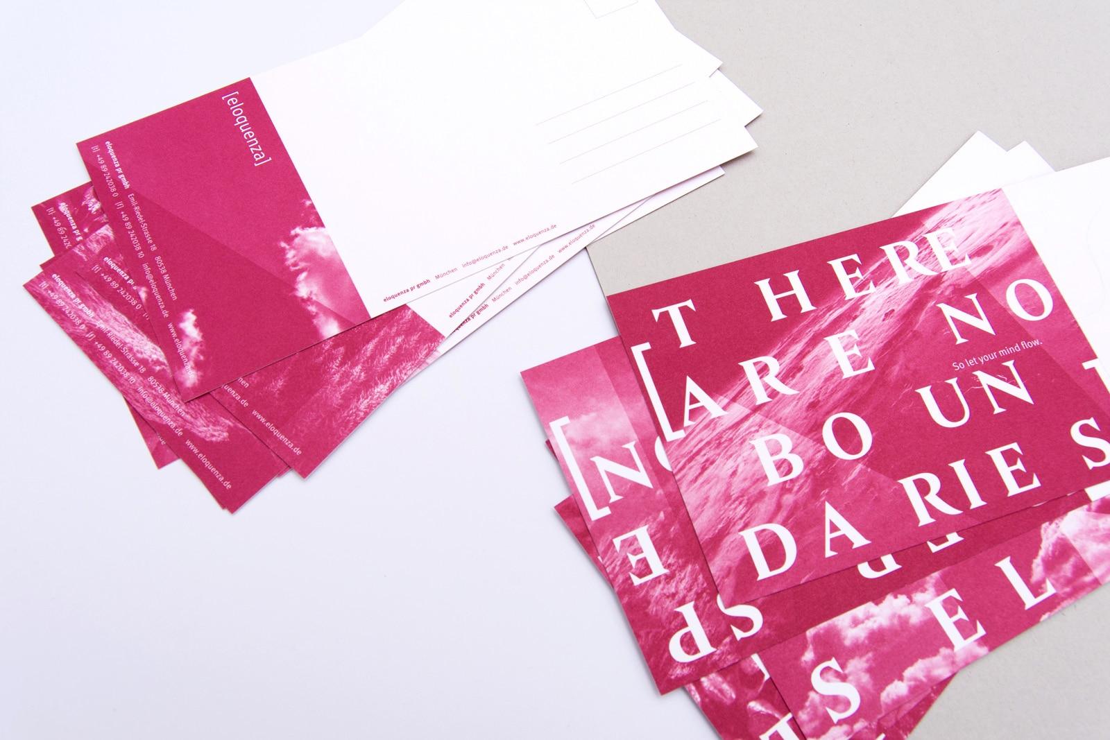 Compliment Cards Design für PR-Agentur