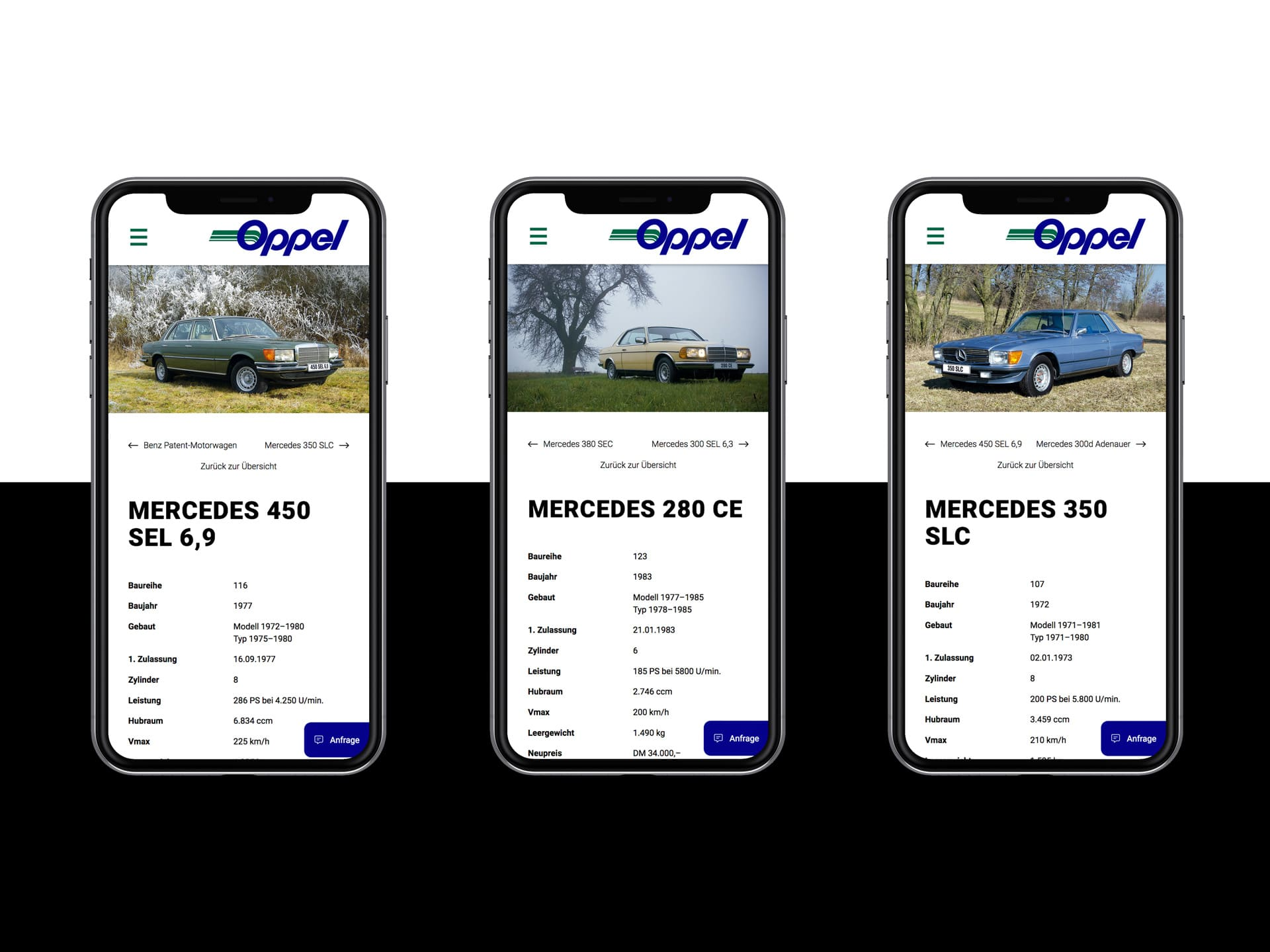 Mobile Screens Webdesign Spedition Oppel