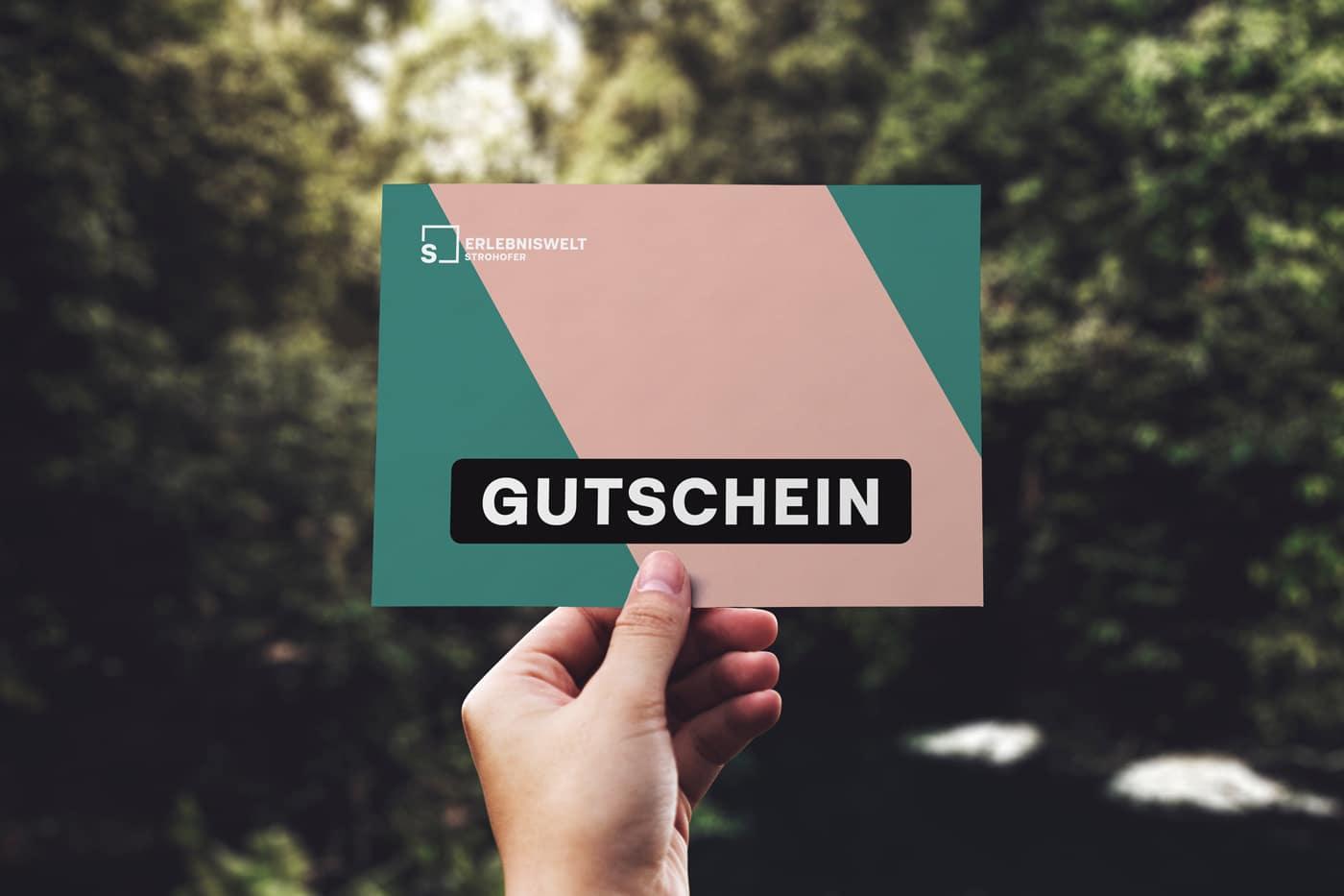 Erlebniswelt Strohofer Gutschein Design
