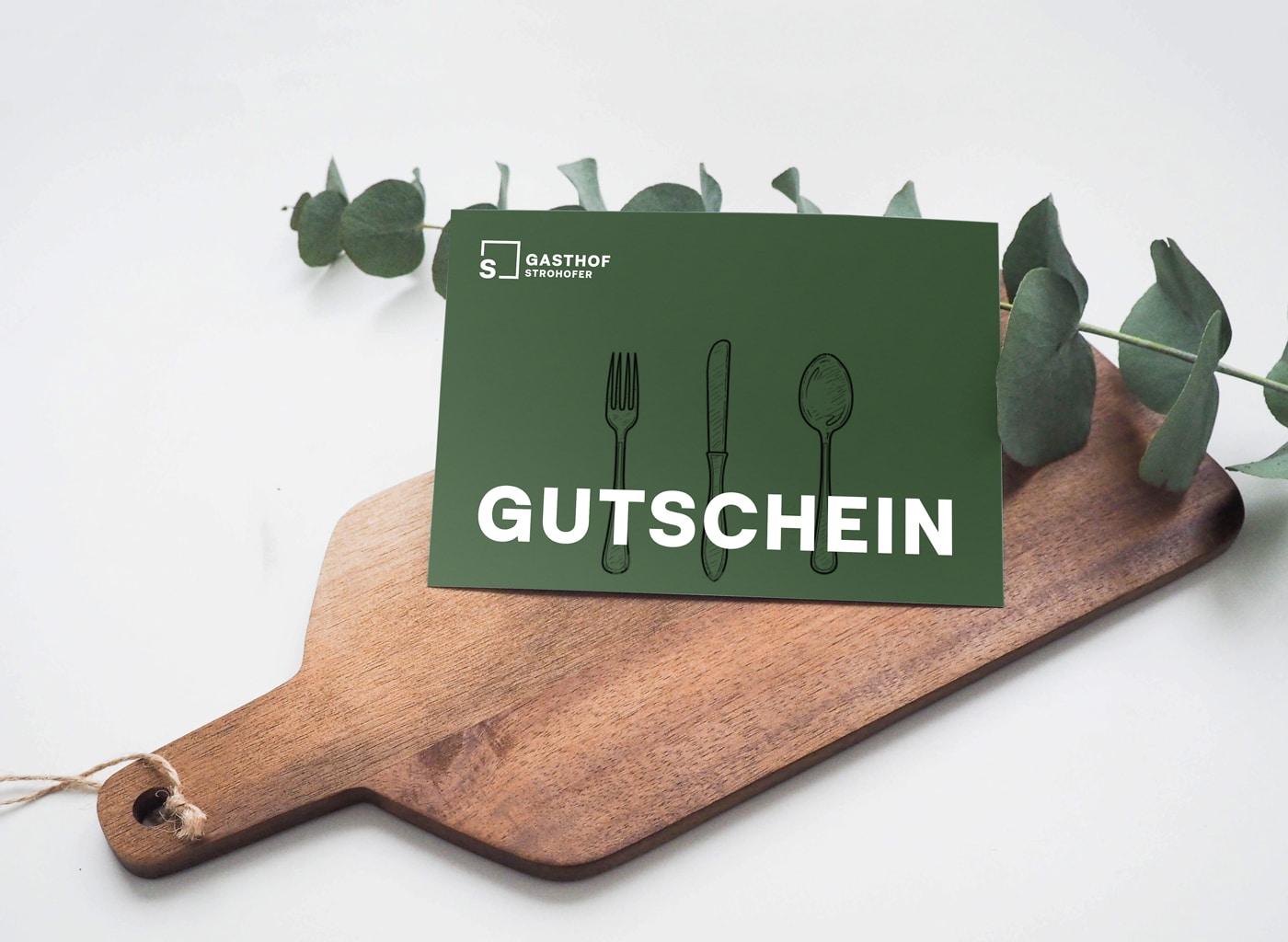 Gasthof Strohofer Gutschein Design