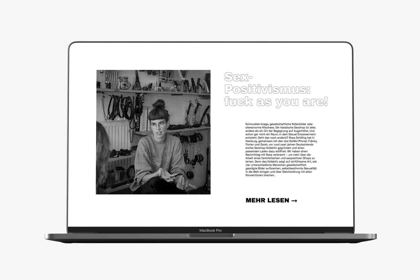 Screendesign Rosa Schilling Portresie de femme