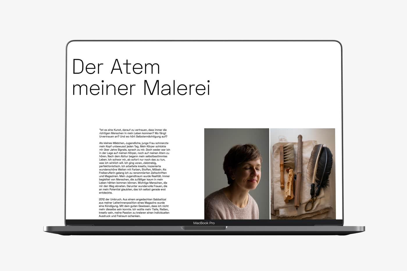 Screendesign Portresie de femme