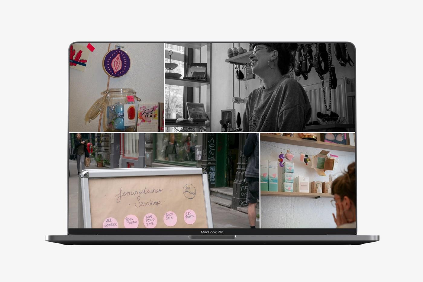 Screendesign Sexshop-Kollektiv, Portresie de femme