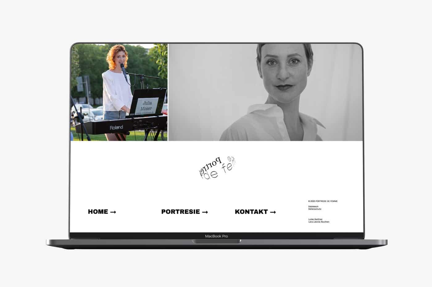 Screendesign Julia Moser, Portresie de femme