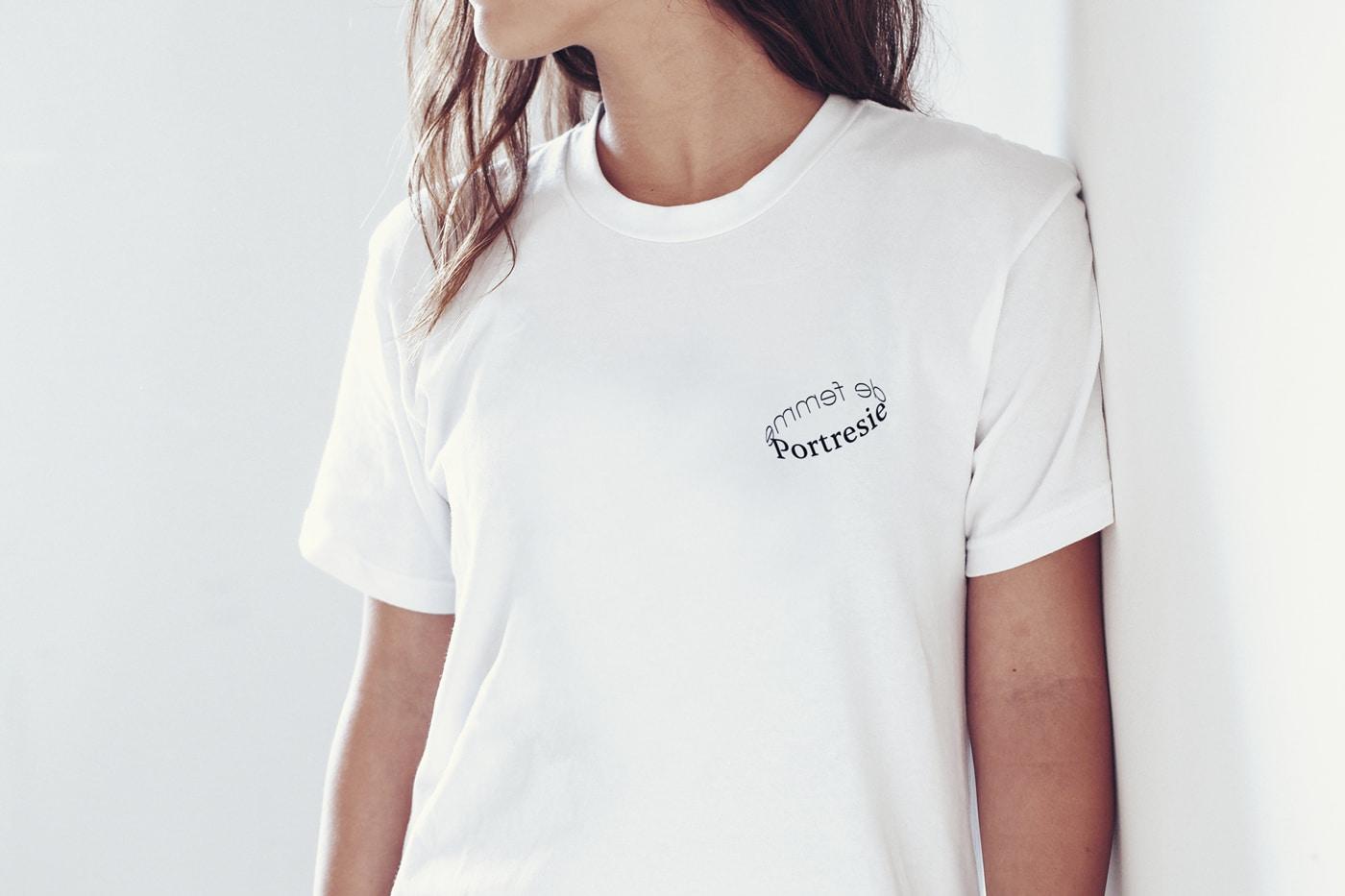 T-Shirt Design für Portresie de femme