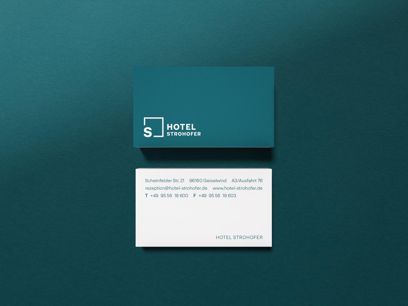 Hotel Strohofer Visitenkarten Design