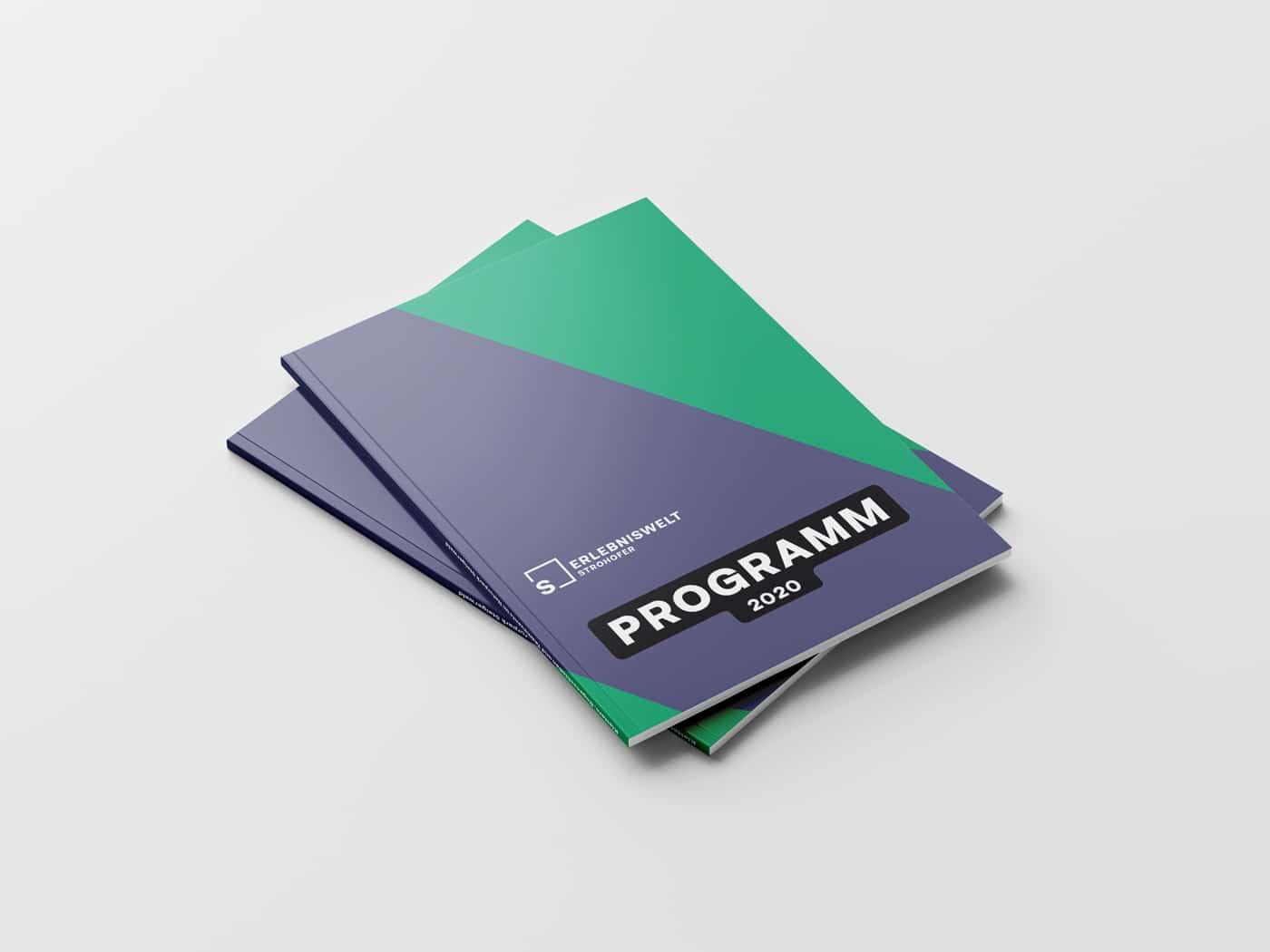 Erlebniswelt Strohofer Broschüre Titel Design