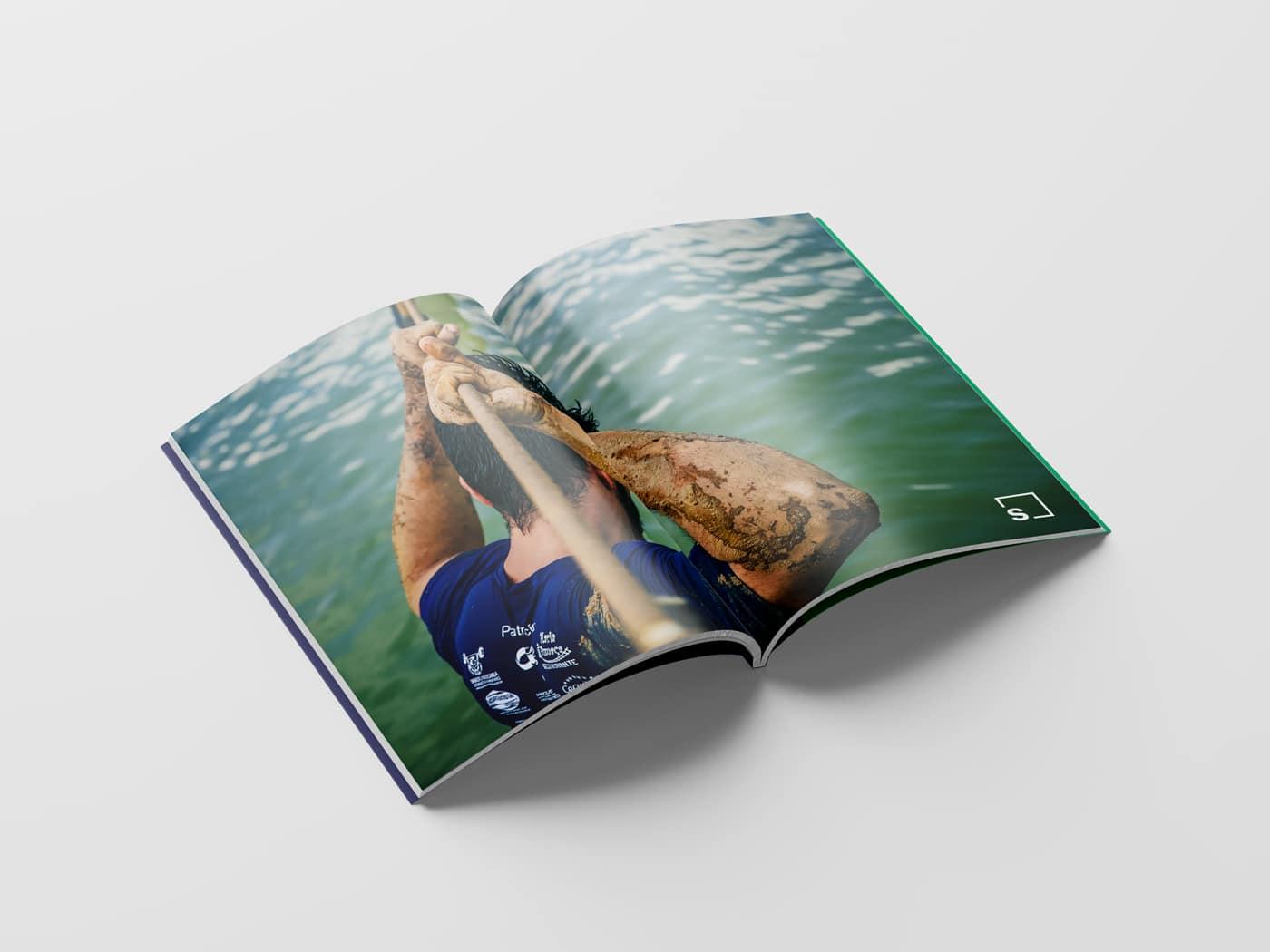 Erlebniswelt Strohofer Broschüre Doppelseite Design