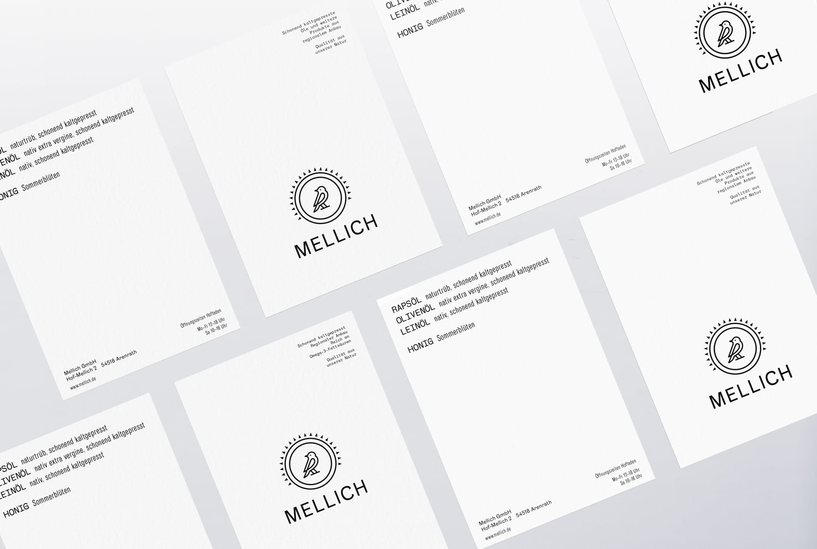 Mellich Öl Flyer Design
