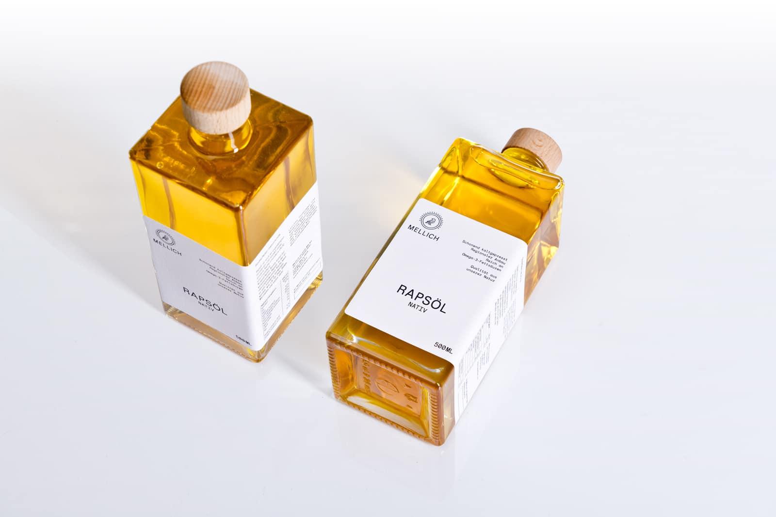 Mellich Öl Etikettendesign perspektive
