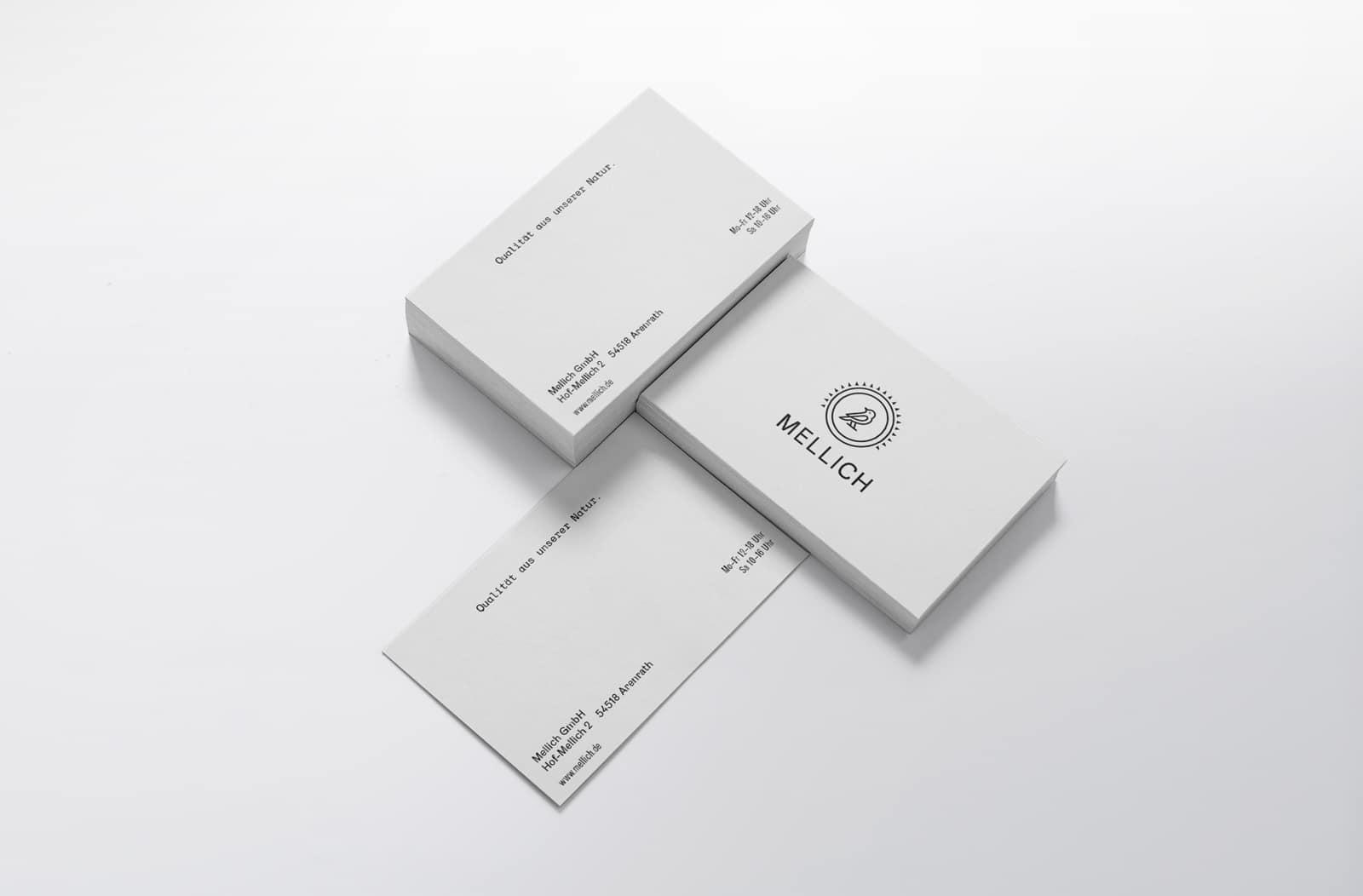 Visitenkarten Design Mellich Öl