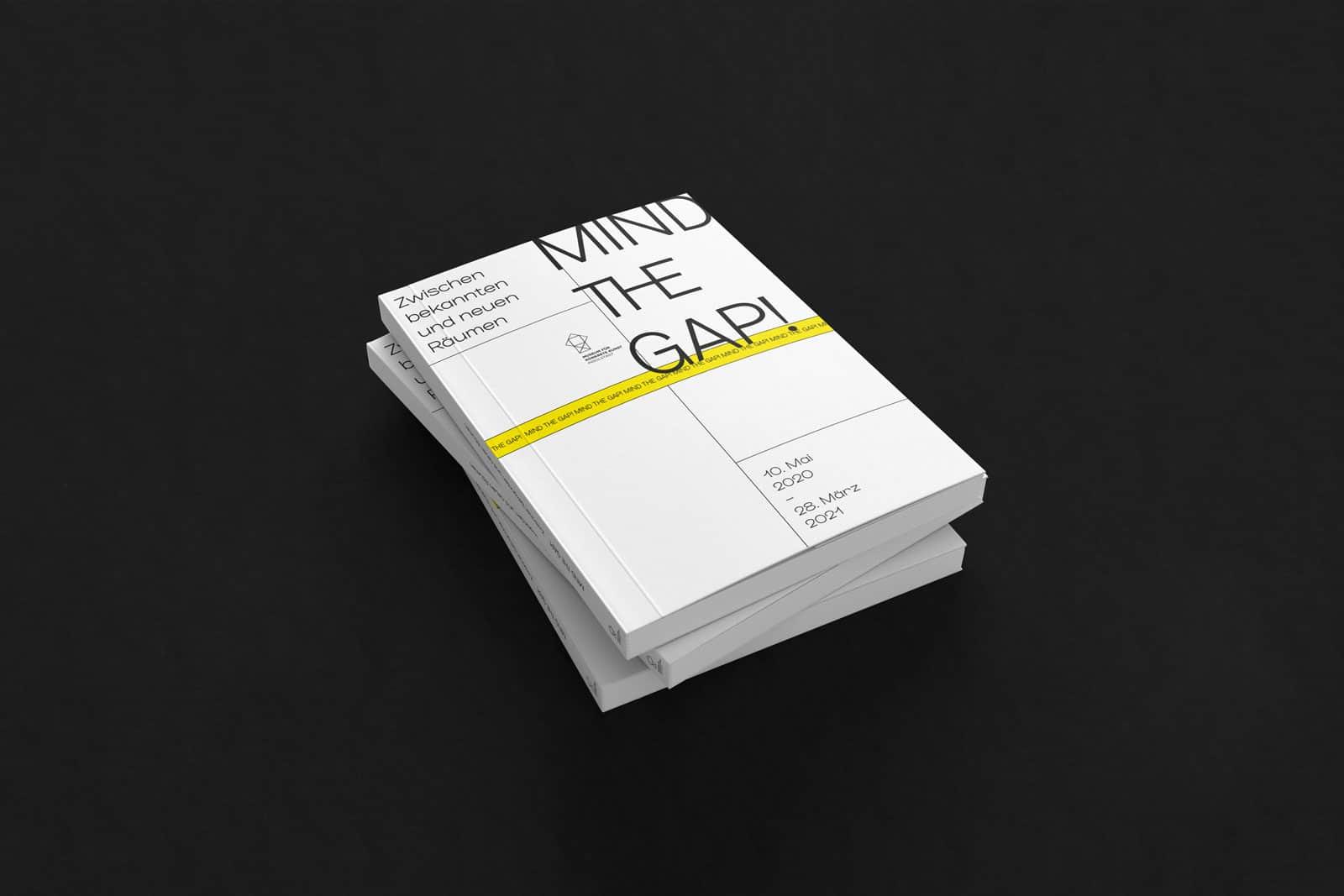 Layout Design Cover Ausstellungskatalog für