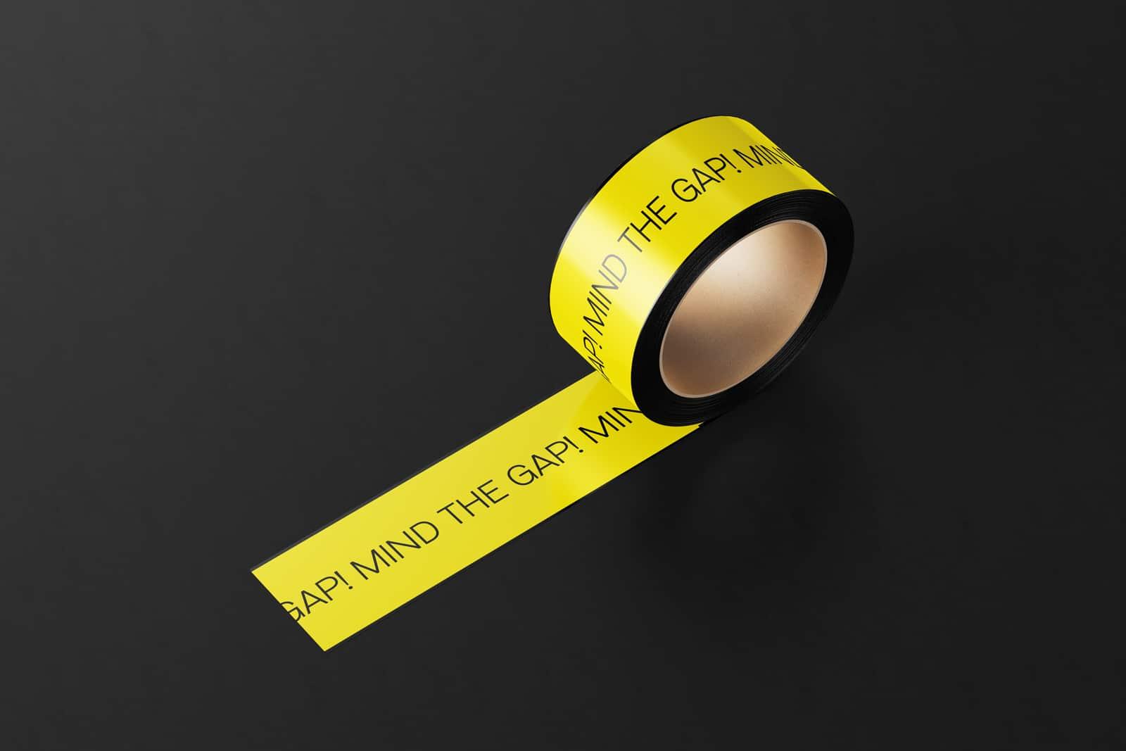 Design Klebeband Tape für die Ausstellung