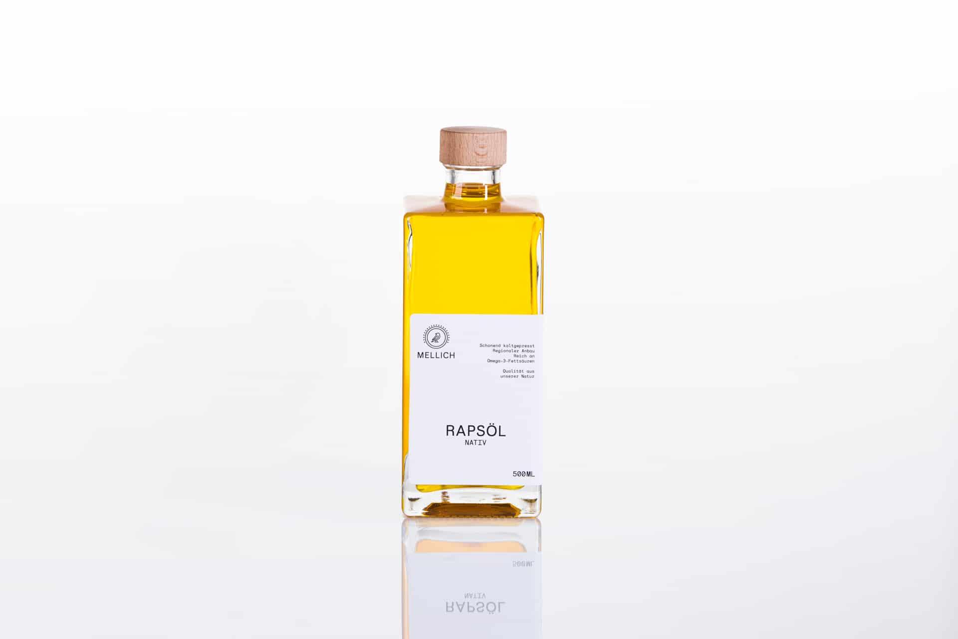 Mellich Ölflasche Etikett Design