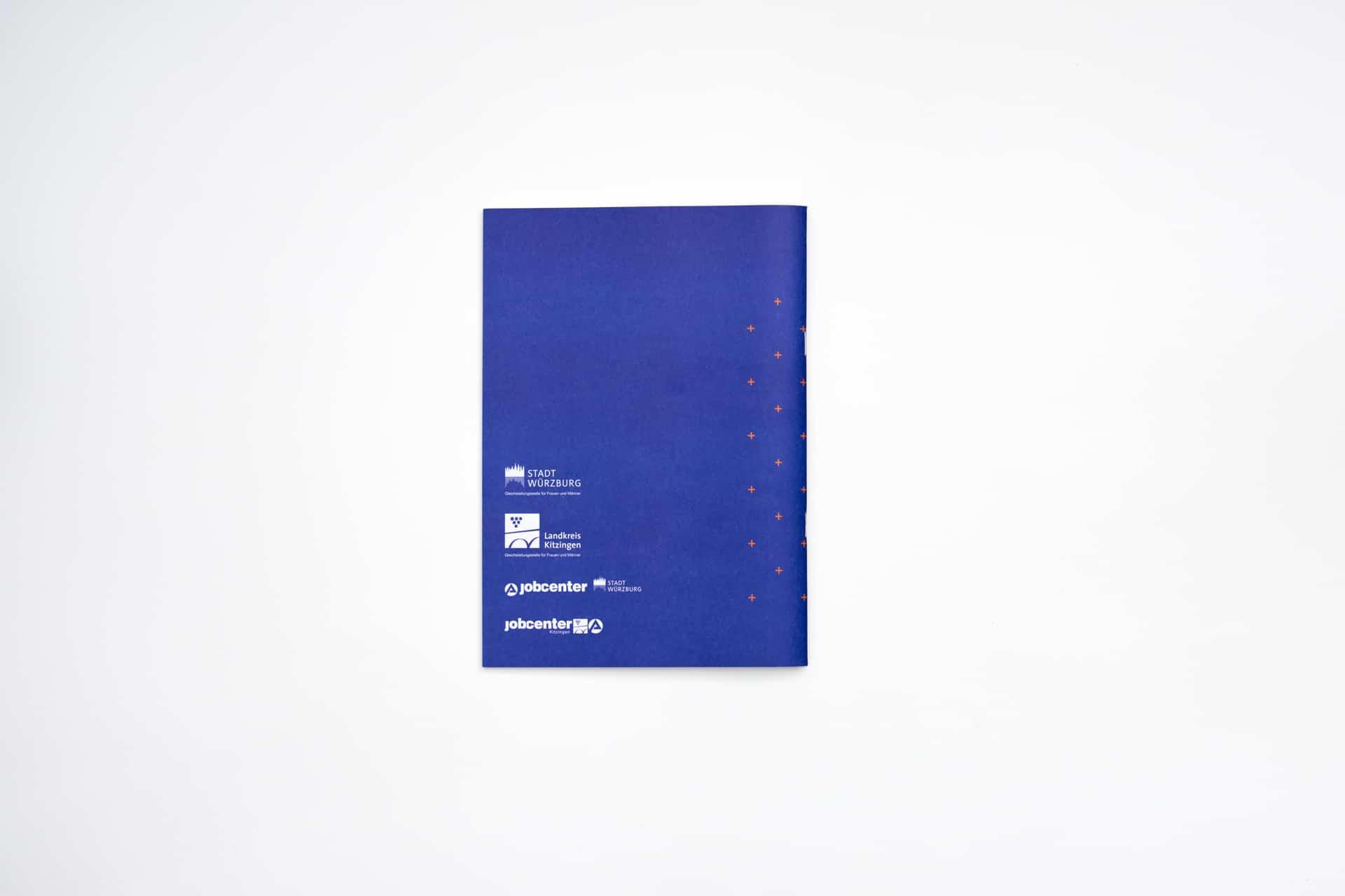 Umschlag Rückseite Design Minijob-Broschüre