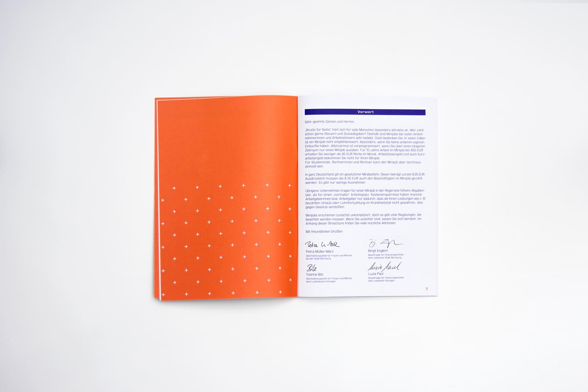 Vorwort Editorial Design Minijob-Broschüre