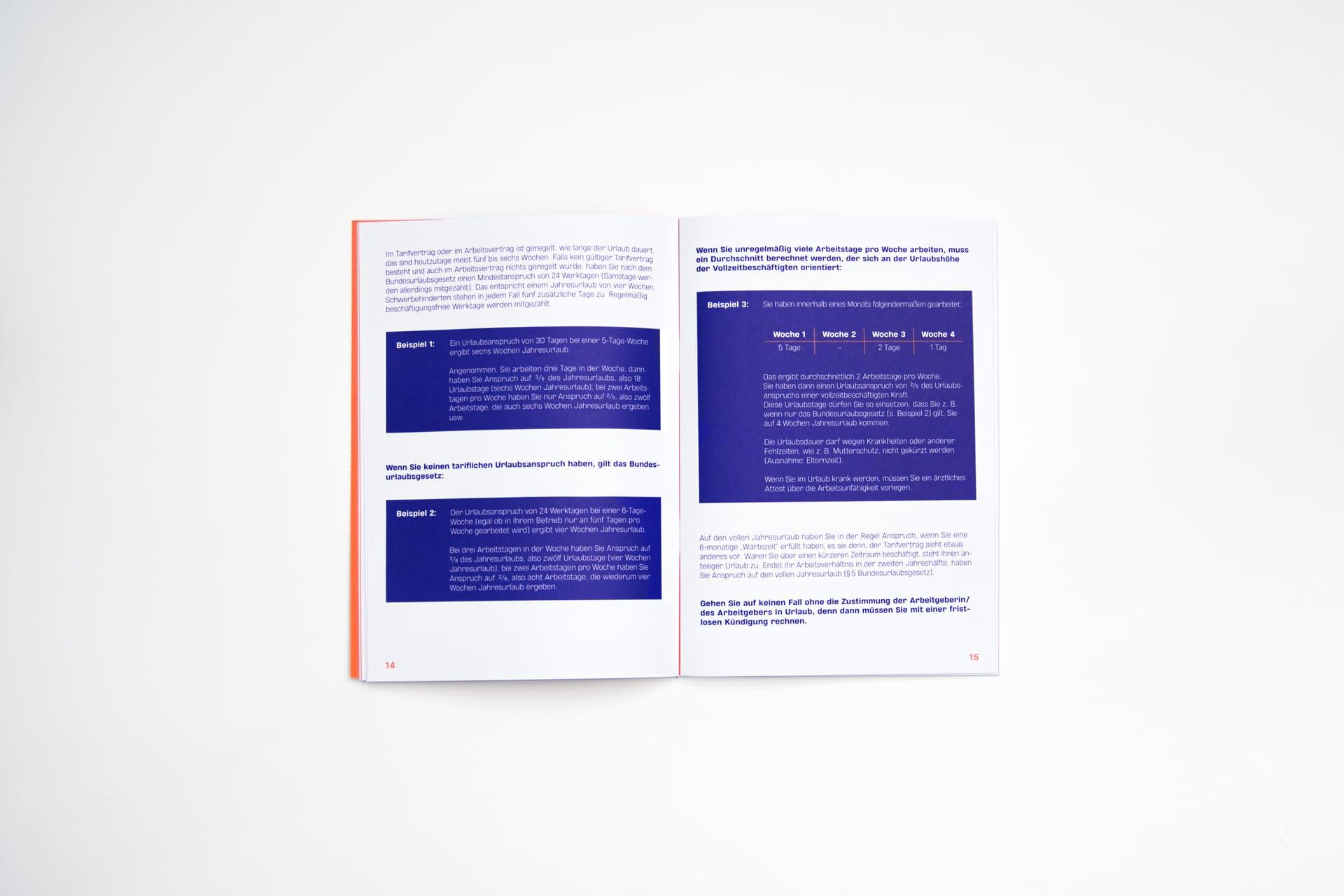 Innenseiten Editorial Design Minijob-Broschüre