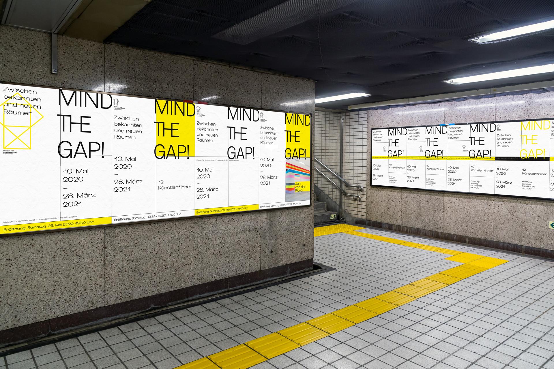Plakatierung von Plakaten für die Ausstellung