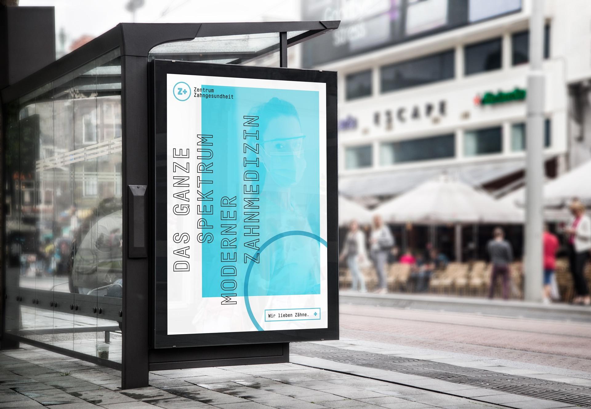 Citylight Poster Design Zentrum Zahngesundheit