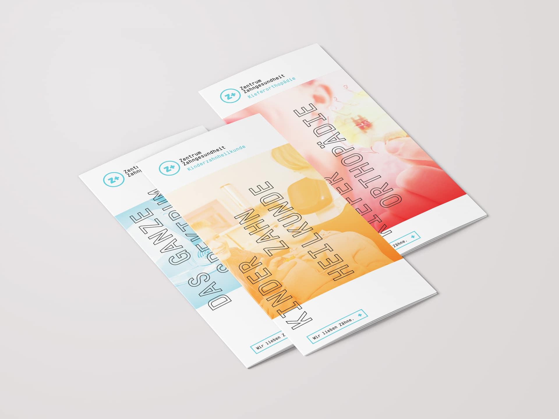 Titel Folder Geschäftsbereiche Design Zentrum Zahngesundheit