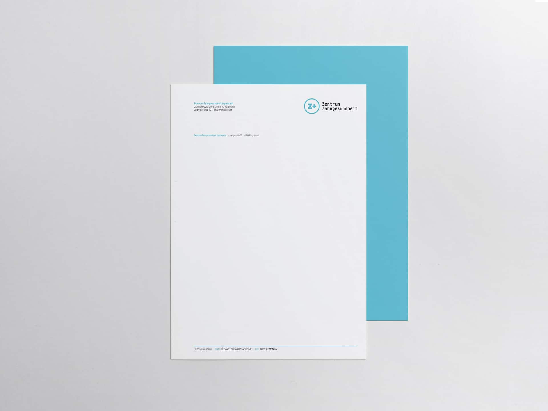 Rechnungsbogen Design Zentrum Zahngesundheit