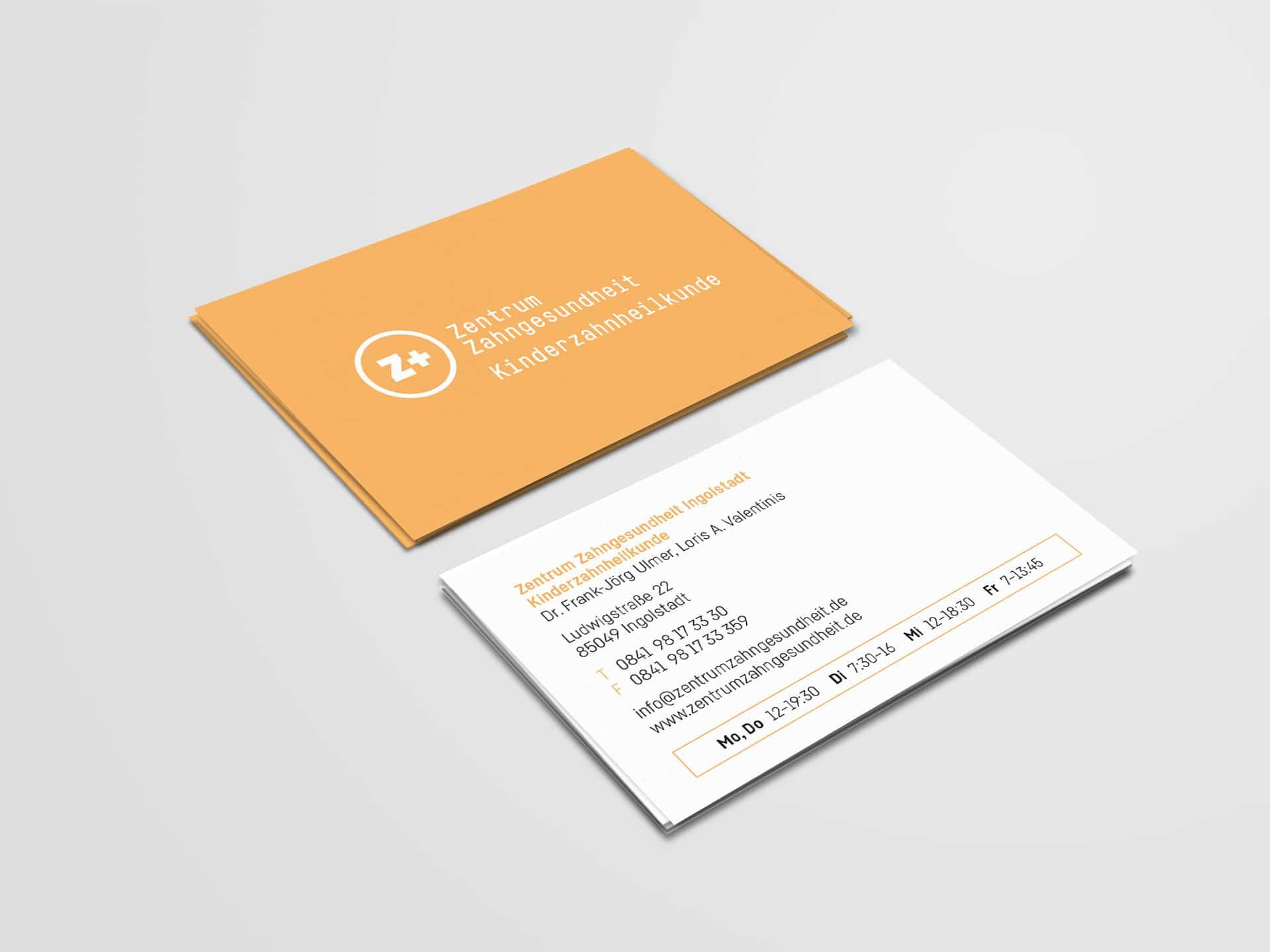 Visitenkarte Kinderzahnheilkunde Design Zentrum Zahngesundheit