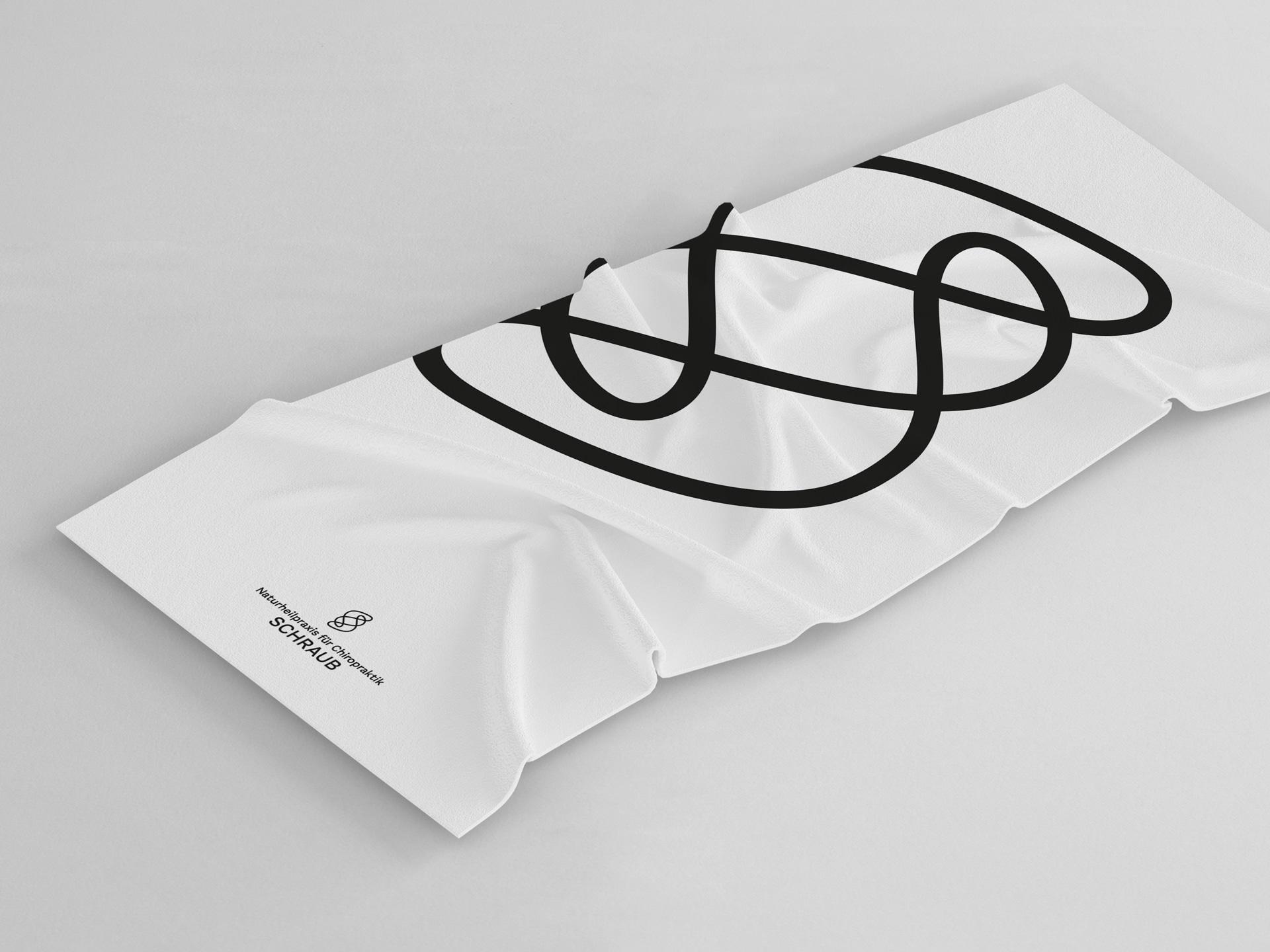 Handtuch Merchandise Design Naturheilpraxis für Chiropraktik Schraub