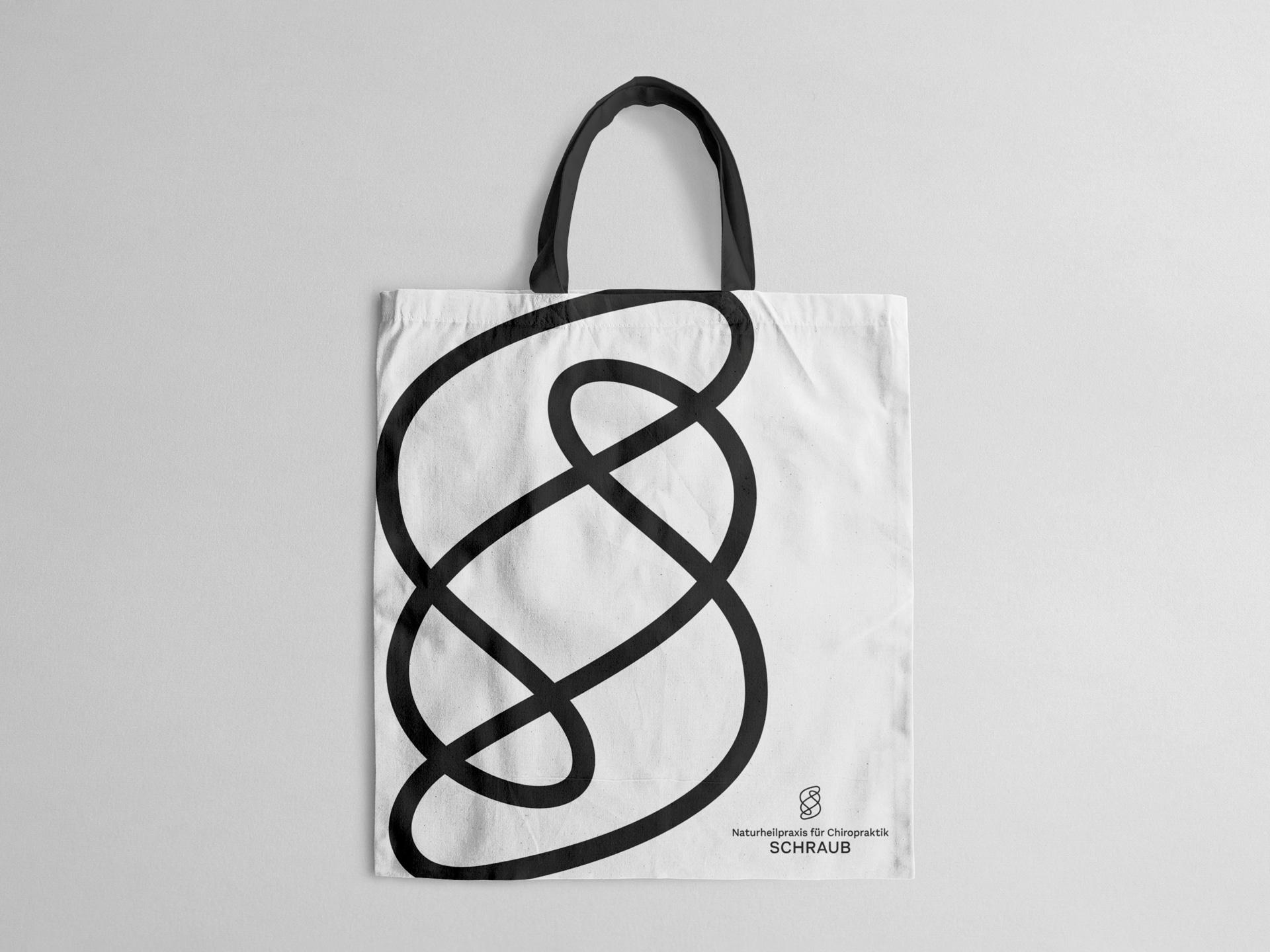 Jutebeutel Tasche Design Naturheilpraxis für Chiropraktik Schraub