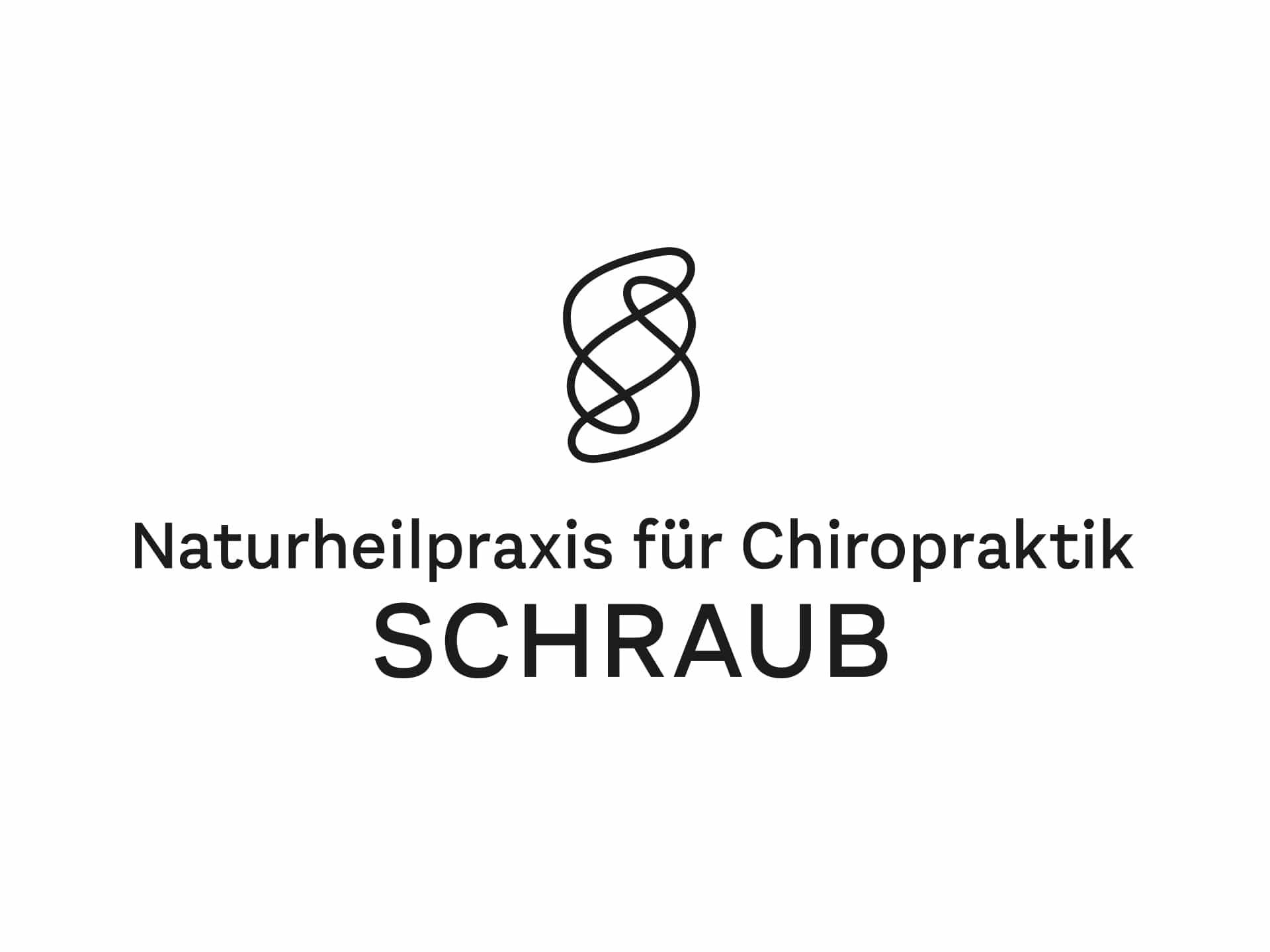Logo Design Naturheilpraxis für Chiropraktik Schraub