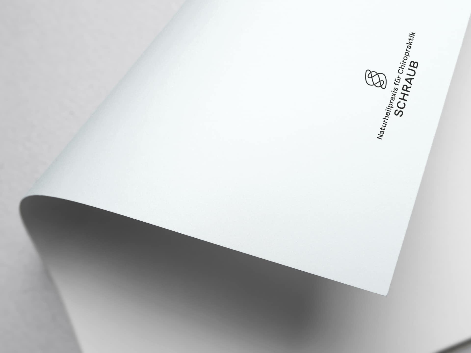 Anwendung Logo Design Naturheilpraxis für Chiropraktik Schraub