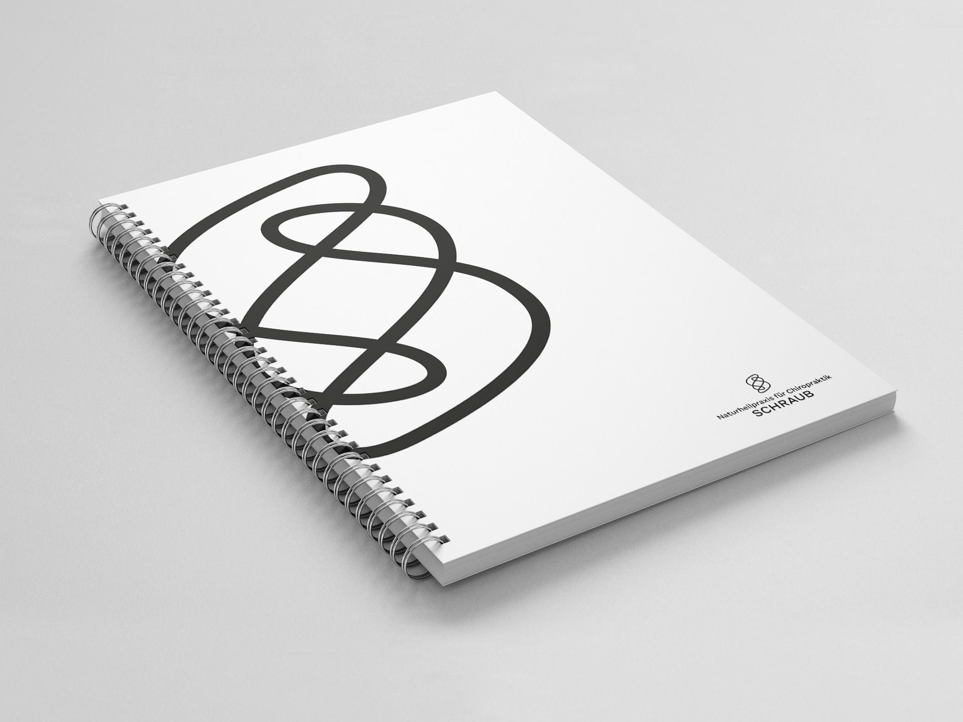 Notizblock Titel Design Naturheilpraxis für Chiropraktik Schraub