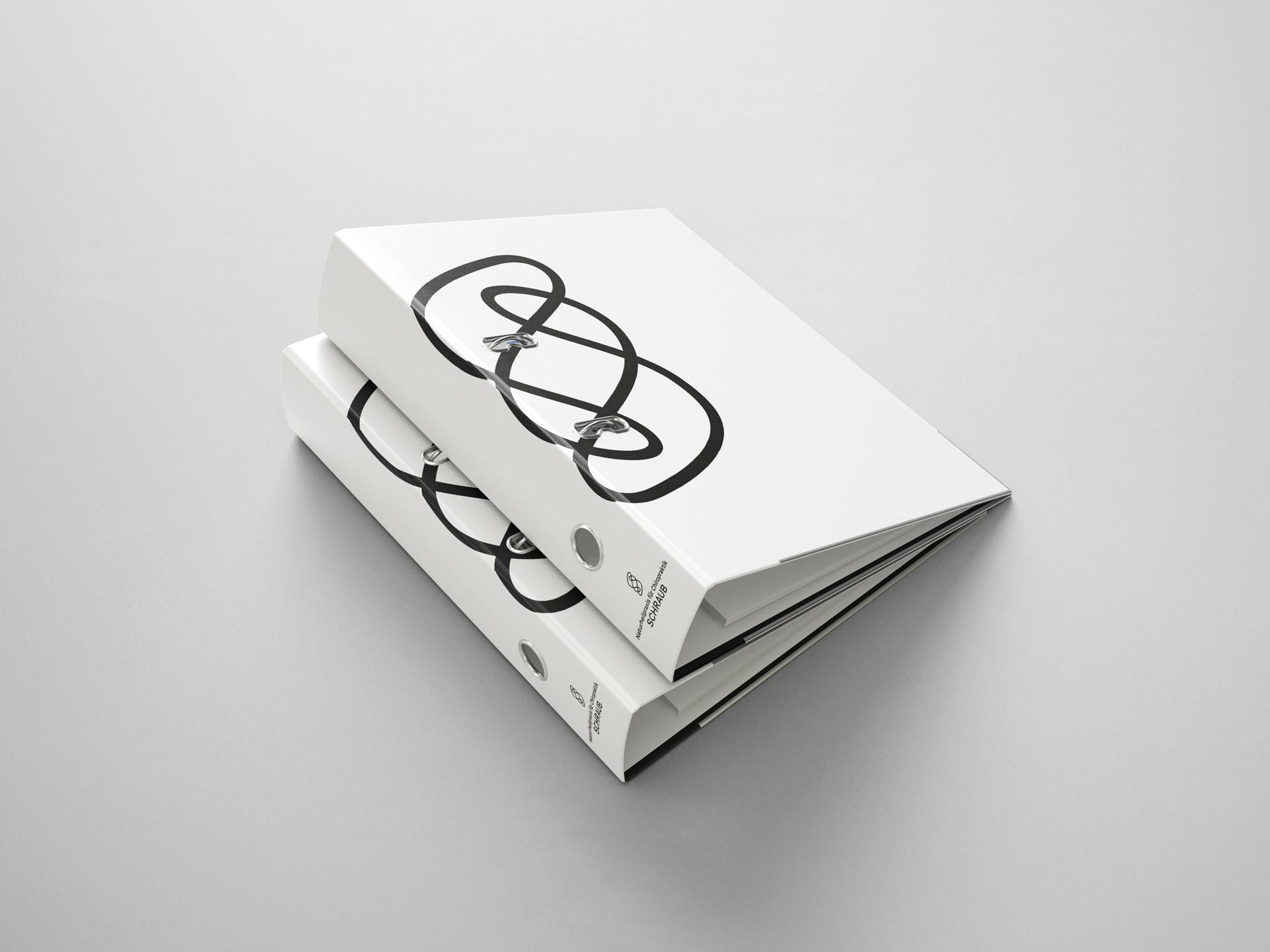 Ordner Design Naturheilpraxis für Chiropraktik Schraub