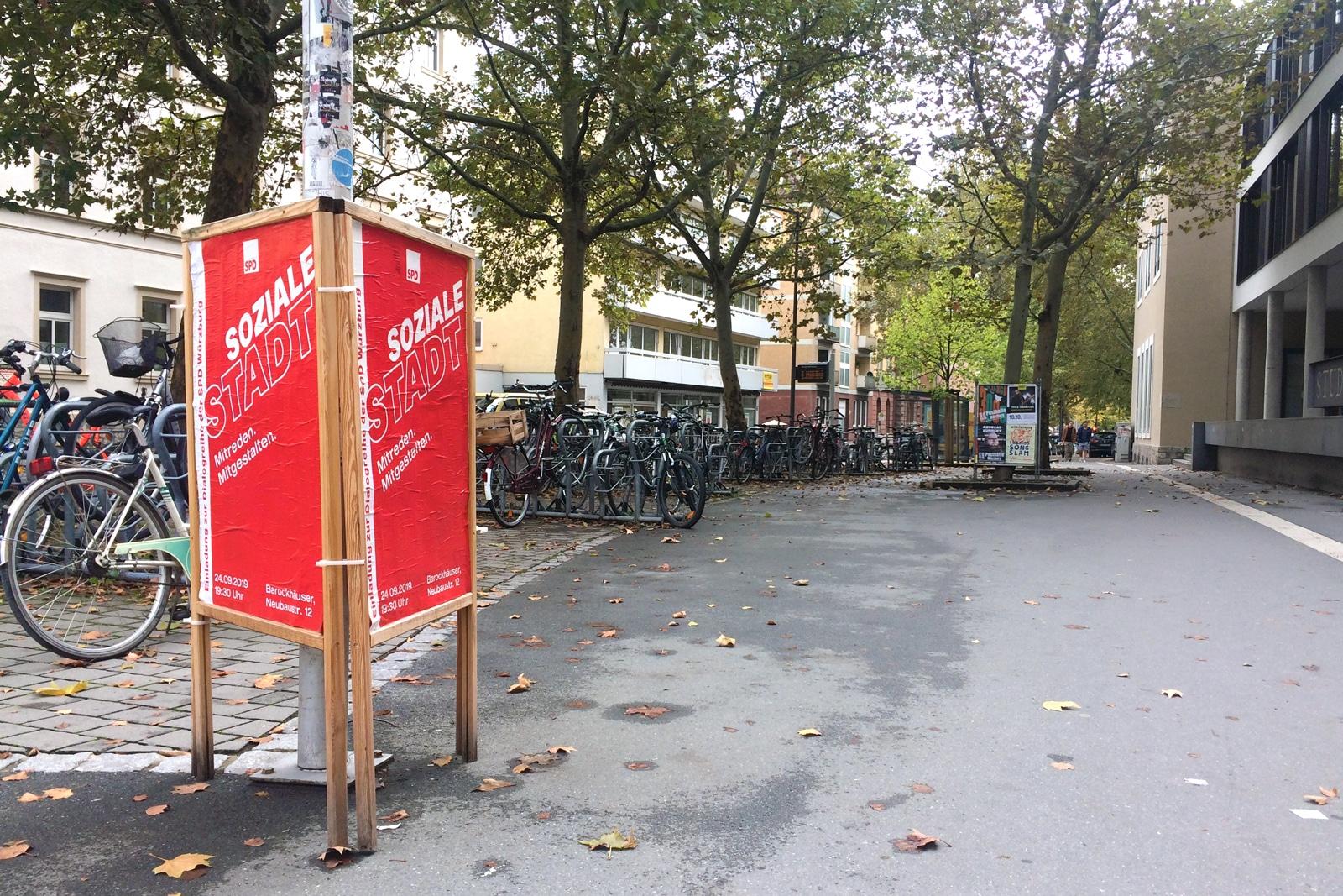 SPD Würzburg Kommunalwahl-Kampagne Design Veranstaltungsplakat Soziale Stadt