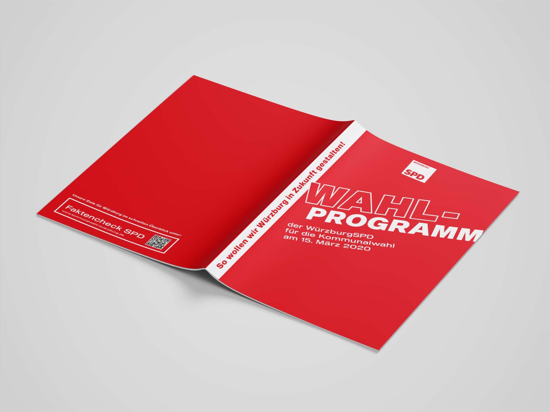 SPD Würzburg Kommunalwahl-Kampagne Design Umschlag Wahlprogramm