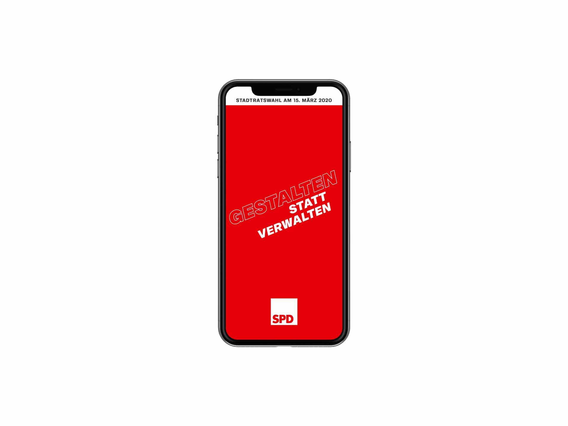 SPD Würzburg Kommunalwahl-Kampagne Design Landingpage Startscreen
